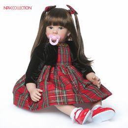 boneca toys 2019 - wholesale Silicone Doll Reborn Baby newborn toddler Kids Toys Girls boneca Gift bebe Dolls brinquedos dolls house plamat