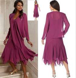 Mother Bride Chiffon Suits Australia - 2019 Vintage Elegant Chiffon Plus Size Mother Of The Bride Dresses With Jacket Tea Length Groom Pant Suits Gowns For Weddings