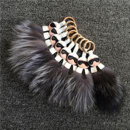 $enCountryForm.capitalKeyWord Australia - Fashion Keychain jewelry bags hang fur fox hair bulb Leather tassel pendant Luxury Gift Bag Clothes shoes hat Accessories Key Chain