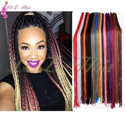 pink kanekalon braiding hair Australia - Box Braids Crochet With Curly Ends Braids Hair Extensions Kanekalon Crochet Braids Hair Extensions Pure Black Pink Purple Grey Box Braiding