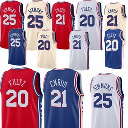 2ee7c3acc 76ers Ben 25 Simmons Jerseys Jimmy 23 Butler Joel 21 Embiid Jersey 18 19 new  Top quality Earned Edition