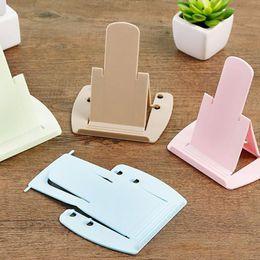 $enCountryForm.capitalKeyWord Australia - Universal Plastic Bracket Phone Holder Flexible Durable Stand Portable Tablet Support For Smartphones  Desktop Foldable