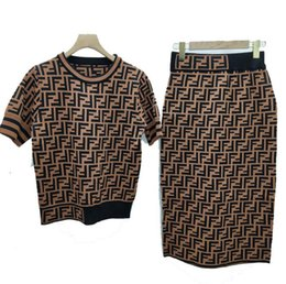europe suits 2019 - 2019 Europe and the United States autumn new letter F mercerized cotton knit suit casual hoodie + feet pants trousers wo