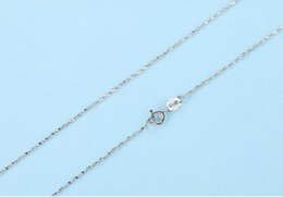 sterling silver box chain wholesale Australia - 18 Inch 100% 925 Sterling Silver Necklaces Chains Smooth Snake Cross Rope Chain Seeds Box Twist Necklace Chains DIY Jewelry Wholesale