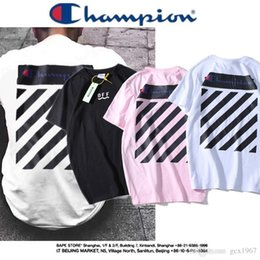 Discount name printed t shirts - CH C555 19SS off wh Joint name behind the street printing men and women couple short-sleeved T-shirt Size M-XXL