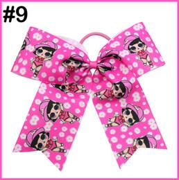 Character Hair Clips Australia - free shipping 60pcs 8'' L.O.L cheerleading hair bows character hair clips popular cartoon cheer bows