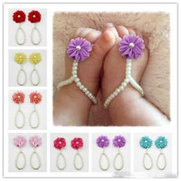 ff42afe3a Bebé infantil sandalias descalzas joyas para bebés impresionantes para  bautizos y floristas Accesorios para bebés zapatos de bebé