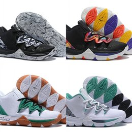 dd8d6850ba67 2019 New Fashion Kyrie 5 Celtics PE Basketball Designer Shoes Custom Irving  V Chinese New Year Sports Sneakers Good Quality With Box