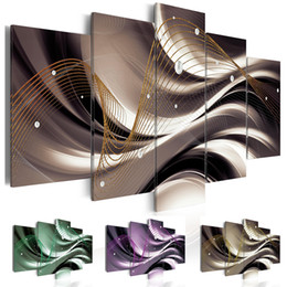 Abstract Designs Pictures Australia - Abstract Wave Line Pearls Canvas Print Modern Art Painting Fashion Design for Home Decoration, Choose Color & Size( No Frame )