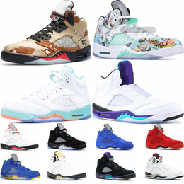 China Mens basketball shoes 5s white cement black grape fresh prince International Flight olympic-gold wings sports sneaker trainers size 5.5-13 supplier prince shoes suppliers
