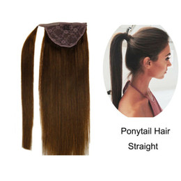 $enCountryForm.capitalKeyWord NZ - Ponytail 100% Real Human Hair remy ponytail hair Extensions Solid Color Medium Brown #4 12in-20in 100g pony tail hairpece