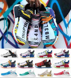 56329a61b 2018 off human race Hu trail x pharrell williams men nmd running shoes  Solar Pack Afro Holi White mens trainers women Designer Chaussures