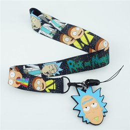 Cute Phone Chains Australia - Cute Cartoon Anime Rick and Morty Cell Phone Neck Strap Lanyards Key Chain ID Badge Pendant Cosplay Accessories Gift