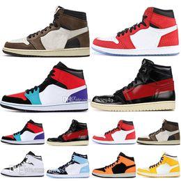 Lavender tops online shopping - 1 High OG Travis Scotts Basketball shoes Spiderman UNC s top Mens Homage To Home Royal Blue Men Sport Designer Sneakers Trainers