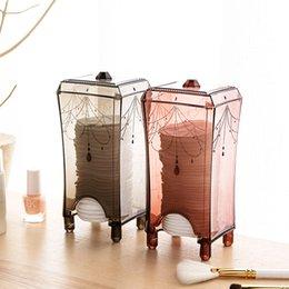 $enCountryForm.capitalKeyWord NZ - wholesale Makeup Organizer Makeup Sponges Cotton Pad Storage Box Bathroom Transparent Cosmetic Storage Case