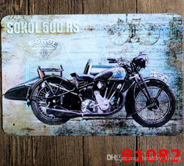 $enCountryForm.capitalKeyWord Australia - Vintage Metal Tin Signs For Wall Decor Motorcycle Route Iron Paintings 20*30cm Metal Signs Tin Plate Pub Bar Garage Retro Home Decoration 99