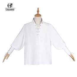 lolita blouses Australia - ROLECOS Women Vintage Lolita Shirts Fashion Puff Sleeve Lolita Blouses White Gothic Long Sleeve Shirt Party Costume for Girls