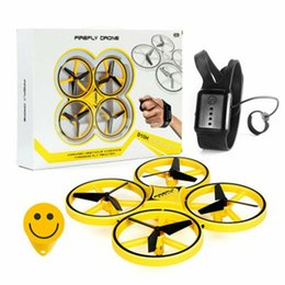 Ufo remote control online shopping - Drone Gravity Sensor Watch Remote Control drone Ufo Hands Free Gesture Drone infrared obstacle avoidance drones with light