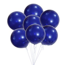 $enCountryForm.capitalKeyWord NZ - 5pcs Navy Blue Balloons 18'' Latex Balloon DIY Home Bachelorette Wedding Party Decoration Baby Shower Birthday Party Supplies