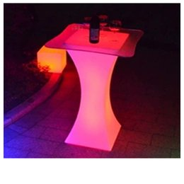 modern bar counter Australia - New Luminous LED Bar Counter Waterproof Rechargeable LED Furniture Colorful Change Club Waiter Bar Disco party supplies