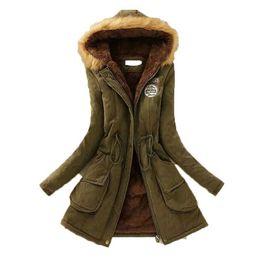 Women Warm Parka Australia - Laamei 2019 Women Fluffy Parkas Female Women Coats Thicken Warm Cotton Winter Hooded Jackets Outwear Parkas Plus Size 3XL