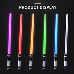 Groihandel Licht Spielzeug für Kinder Säbel oyuncak Luminous Jedi Säbel Laser-Schwert leuchten LED leuchten blinkende Leuchtstab in der