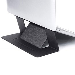Portable adjustable folding stand online shopping - 2019 Invisible Laptop Stand Ultra Thin Adjustable Portable Folding Tablet Holder For IPad MacBook Air Mac Desk Tablet Mount