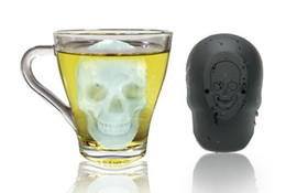 halloween chocolate moulds NZ - 3D Skull Head Ice Cube Mold Halloween Skull Shaped Whisky Wine Ice Cube Tray Maker Chocolate Mould Bar Party Supplies