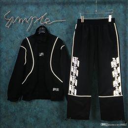 Irregular suIt men online shopping - New Autumn Sports Suit with irregular running pants hoodies zipper and belt trousers for men and women