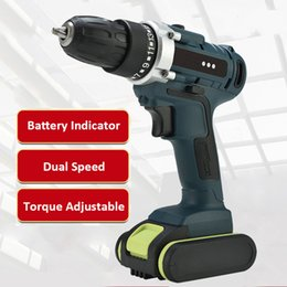 $enCountryForm.capitalKeyWord Australia - Dual Speed Mini Rechargeable Cordless Electric Drill Power Rotary Tools Hand Impact Drill Machine with 2pcs Batteries