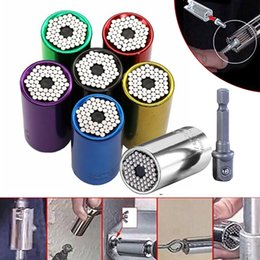 2pc universal de par zócalo de la manga trinquete Multi jefe de la manga de energía Taladro reparación de carraca Llave adaptador de buje herramienta # YL5 en venta