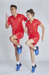 $enCountryForm.capitalKeyWord Australia - YON EXX LD Badminton Suit Sportswear for Men and Women Short Sleeve T-shirt for Leisure Running Basketball casual wear 6037+7025 RED