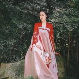 $enCountryForm.capitalKeyWord NZ - Hanfu Chinese Dance Costumes Spring Hanfu Dress Ancient Chinese Costume Women Traditional Clothes For Lady DWY1906
