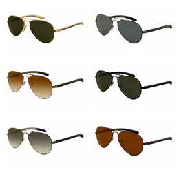 Designer Glasses Women Australia - 2018 Excellent Quality 8307 Ray Aviator Sunglasses Bans Frame Glass Lenses Brand Designer Sunglasses for Man Women