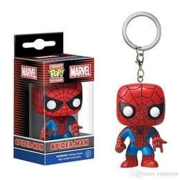 spiderman figure keychain Australia - Good Wholesale price Hot sell Funko Pocket POP Keychain - Spiderman Vinyl Figure Keyring with Box Toy Gift Good Quality fast payment