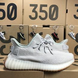 d61ab6f0c Yeezy Boost 350 V2 2019 Nuevas zapatillas de running para hombre Kanye West  para mujer Crema Blanco Tinte azul Zebra Zapatillas deportivas negras Con  las ...