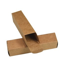 $enCountryForm.capitalKeyWord UK - 50pcs lot 2*2*8.5cm Brown Kraft Paper Boxes Wedding Small DIY Gift Packaging Paper Box Lipstick Package Paperboard Boxes