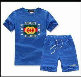 Hot Boys Winter T Shirt Australia - Boys And Girls Designer T-shirts And Shorts Suit Brand Tracksuits 2 Kids Clothing Set Hot Sell Fashion Summer Children's T52134