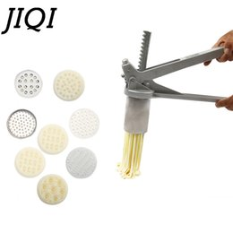 $enCountryForm.capitalKeyWord NZ - JIQI 8 Mode Stainless Steel Pasta Maker Handmade Noodles Press Spaghetti Noodle Press Machine Hand Operated Dough Cutter Molds