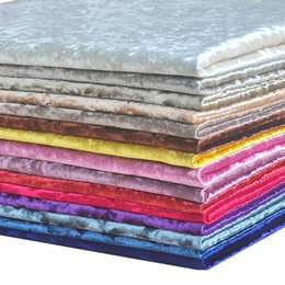 table cloth colors 2019 - Multi-Colors Thick Ice Velvet Fabric Luxury Bonded Flocked Fleece Cloth Upholstery For Sofa Chair Table Decoration DIY T