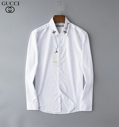 mens xl long sleeve t shirt Australia - 2muse Male Style Shirt Clothes New Product Man Long Sleeves Lapel Lattice Leisure Time Youth Tide mens casual slim fit t-shirt 0722
