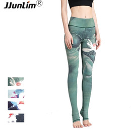 Formal Leggings Australia - Women Sexy Yoga Printed Dry Fit Elastic Fitness Gym Pants Workout Running Tight Sport Leggings Female Trousers C19041701