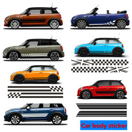 2PCS Car Styling Side Racing Jupe à rayures Edition Limitée Durites pour MINI Cooper R50 R52 R53 R56 R57 R58 R59 F55 F56 F54