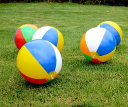 Large Inflatable Pools Australia - Free DHL 30cm 12inch Inflatable Beach Pool Toys Water Ball Summer Sport Play Toy Balloon Outdoors Play In The Water Beach Ball