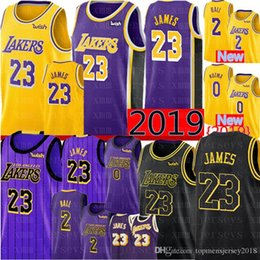 men balls 2019 - 2019 Los Angeles 23 LeBron James Lakers 2 Lonzo #Ball 0 Kyle # Kuzma 14 Brandon # Ingram 24 Kobe # Bryant Basketball Jer