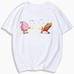$enCountryForm.capitalKeyWord Australia - Majin t shirt Buu ice cream fight chips short sleeve tees Dragon ball tops Cartoon singlet Colorfast clothing Elastic modal tshirt