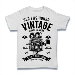 ace09dcd93 OLD FASHIONED VINTAGE T Shirt MOVIE CAMERA KEEP IT OLD SCHOOL S-3XL Men  Women Unisex Fashion tshirt Free Shipping Funny Cool Top Tee Black