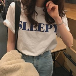 Wholesale t shirts different styles online – design 2020 small special basic style short sleeved loose casual pure cotton cotton T shirt T shirt with different letters