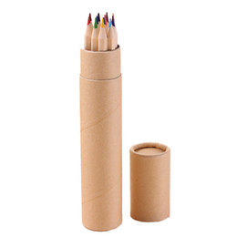 Pen children gift online shopping - DHL Color Children Kids Wooden Drawing Pencil Colorful Pencil Sets Environment Friendly Kids Gifts Sketching Colored Pencil Learning Tool