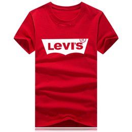 e98190e92 Camisas de luxo T para Homens Mulheres o pescoço Grande Tamanho S-4XL  logotipo Da Marca Camisa de verão T de Algodão Roupas de Grife Carta de  Impressão de ...